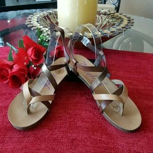 BLOWFISH MALIBU CORK HEEL SANDALS